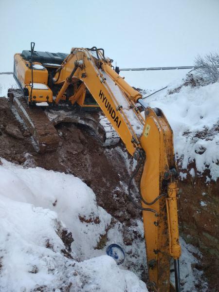 Разработка котлована зимой