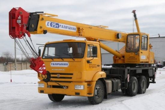 Услуги автокрана Галичанин 25 тонн